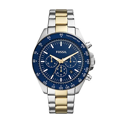 Fossil Men's Neale Quartz Stainless Steel Sport Watch, Color: Silver, Gold (Model: BQ2266)