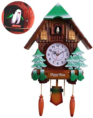 Klok 20 Inch Cuckoo Mode Slaapkamer Studie Mooie muur Delicate Creatieve Alarm Kwaliteit Swing Pocket Horloge Moderne Korte Uur Uitzending Tijd, Huiswarming Gift