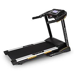 Capital Sports Pacemaker X30 Laufband - Heimtrainer, Brustgurt, 3 PS, max. 22 km/h, Trainingscomputer, LCD-Display, 36 Programme, Pulsmesser, Neigung: 0% - 20% Gefälle, klappbar, schwarz