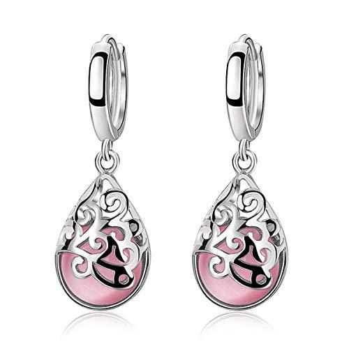 Nihlsfen European And American Gorgeous Earrings Moonstone Jewelry Fashion Moonlight Opal Totem Earrings For Women