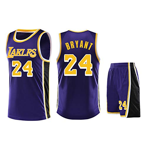 DIWEI Kobe Bryant # 24 Los Angeles Lakers # 23 James Adulta Camiseta De Baloncesto/Fans Niños Niñas Jerseys Niños Adolescentes Verano Camiseta Deportiva Chaleco + Shorts Blue-XS