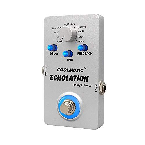 Coolmusic A-DE01 Gitarren Effekte Digital delay pedal mit 9 Verzögerungs Typen und Anpassung der Verzögerungszeit und Rückmeldung