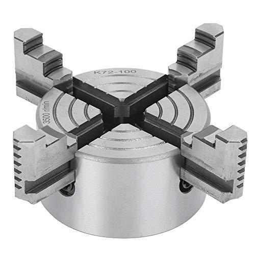 Gotop - Mandril para torno de metal, herramienta de bloqueo con fuerza de sujeción de 4 grilletes independientes con portabrocas para torno de 100 mm 3500 r/min