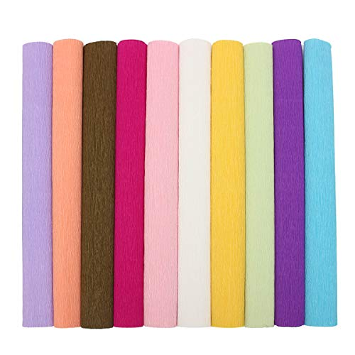 EsportsMJJ kleurrijke crêpe papier rollen Streamer bruiloft partij benodigdheden handgemaakte decoratie papier kunst