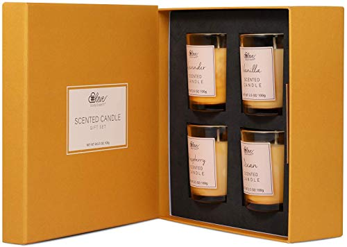 Aromatherapy Scented Candle Set - Natural Soy Wax Candles for Stress Relief...