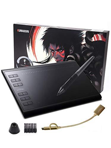 RAYWOOD 筆や写楽 ペンタブレット KUMADORI PC・Android対応 ショートカット28個 ペンタブ 板タブ 手袋 線画イラストデータ付き