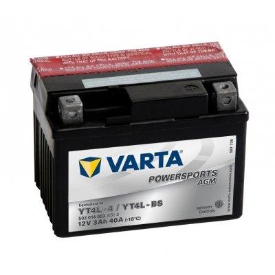 Varta Funstart AGM 503014003 A514 12 V 3Ah Battery) YT4L YT4L-BS - 4