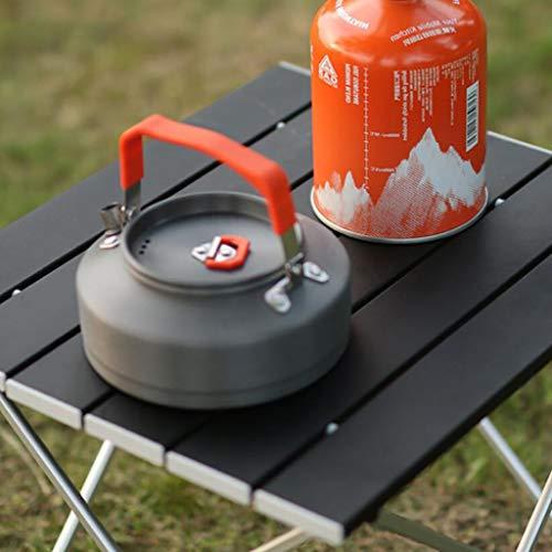 QTQHOME Mesa De Camping Plegable,Mesa Plegable Portátil Al Aire Libre,Ligera Mesa Portátil De Aluminio Pequeño para Camping Al Aire Libre Picnic Vacaciones Negro L 39.5x34.5x31.5cm(16x14x12inch)