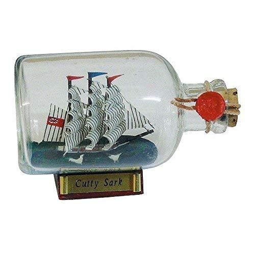 Linoows Barco en Botella Cutty Sark ,Decoración Marítima, Nave Botella 9 CM
