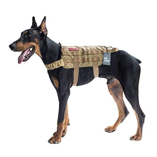 OneTigris Tactical Dog Training Vest Harness with...