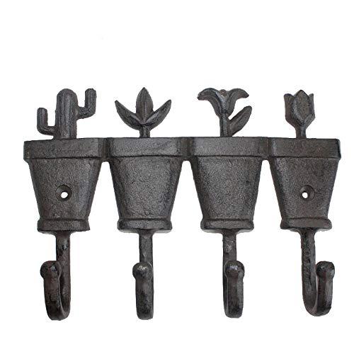 WANDOM bloempot vier haken gietijzer smeedijzer mediterrane stijl haak in huis hanger handwerk