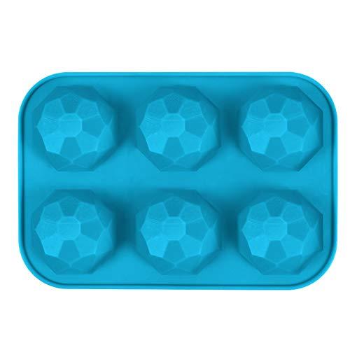 2 moldes de silicona multicolor con forma de esfera de media bola para tartas, magdalenas, chocolate, chocolate caliente