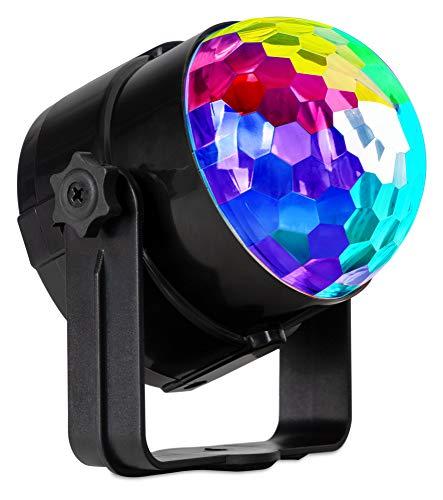 Showlite PBM-5 Mini-Party-Ball - kleine LED Discokugel für Party, Bar und mobile DJs - Disco Lampe mit Stromversorgung über USB-Netzteil - Musikgesteuerter Lichteffekt - Discolicht für Kinder