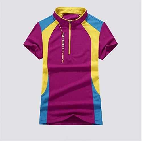MedusaABCZeus Kurzarm Shirt Uv Schutz T-Shirt,Fitness T-Shirt, läuft schnell trocknende Kleidung-lila/weiblich_XXXL,Poloshirts Damen