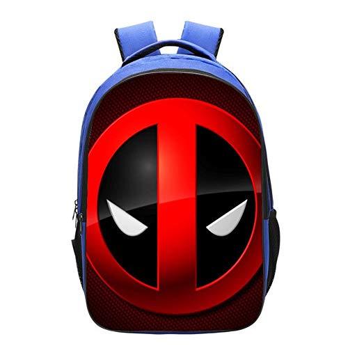 QWEIAS Deadpool 3D Mochila para niños - 16.5 Pulgadas Toddler Kids Mochila Escolar para niños pequeños - Rucksack para 3-12 años – Regalo F