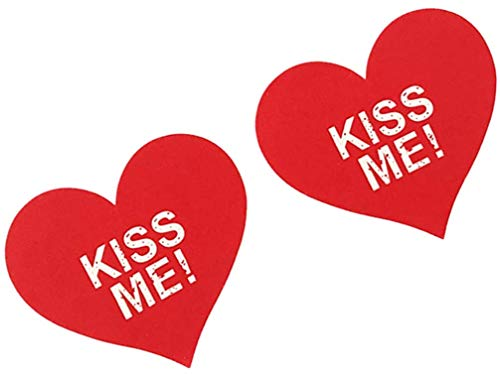 Papapai 10 paia di adesivi sul petto baci a forma di cuore usa e getta Stampa seno sexy incolla cappuccio per capezzoli cappuccio per donna da donna