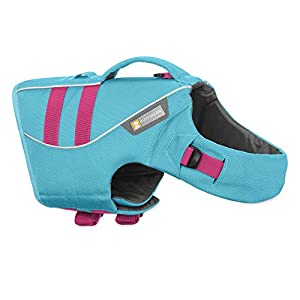 RUFFWEAR, Float Coat Dog Life Jacket for Swimming, Adjustable and Reflective, Blue Atoll, Large