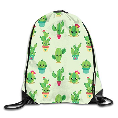 show best Cactus Love Drawstring Gym Bag for Women and Men Polyester Gym Sack String Backpack for Sport Workout, School, Travel, Books 14.17 X 16.9 inch