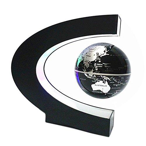 Beetest Globo Terraqueo/ Bola Del Mundo/Levitación Magnética Globo Flotante con LED C Forma Base Giratoria Planeta Tierra Globo Para Decoración de Escritorio Regalo de Cumpleaños de Navidad