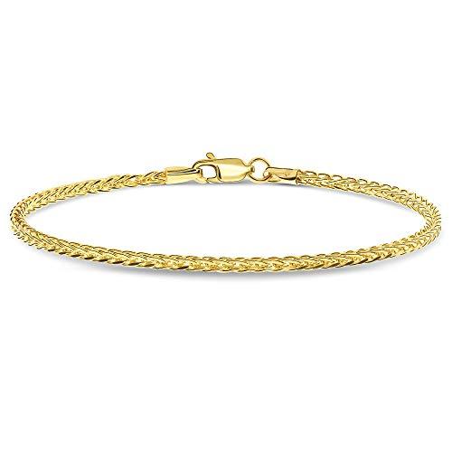 Miore Armband Damen Zopfkette Gelbgold 14 Karat / 585 Gold, Länge 19.5 cm Schmuck