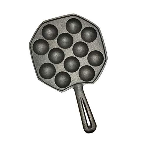 12 trous Facile à nettoyer DIY Takoyaki Pan Octopus Boules de cuisson à pâtisserie Machine à pâtisserie Moule de brillance Cuisine Cuisine Outils