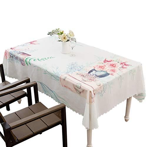 Nappe jacquard décorative Tissu de table rectangulaire tissu polyester Idéal pour table de buffet, Très jolie décoration pour, Repas de fête, Mariage & plus-A 130x190cm(51x75inch)