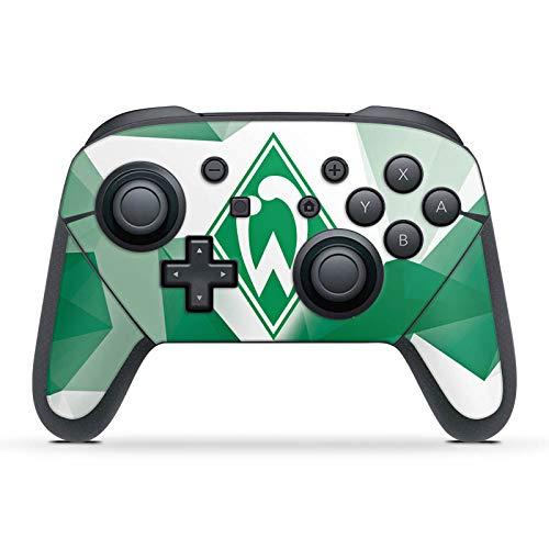 DeinDesign Skin kompatibel mit Nintendo Switch Pro Controller Folie Sticker SV Werder Bremen Tarnmuster Offizielles Lizenzprodukt