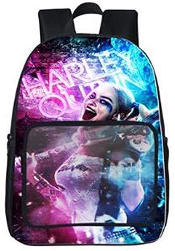 Harley Quinn - Mochila escolar de gran capacidad para niños y niñas (Harley Quinn4,13 (guardería)
