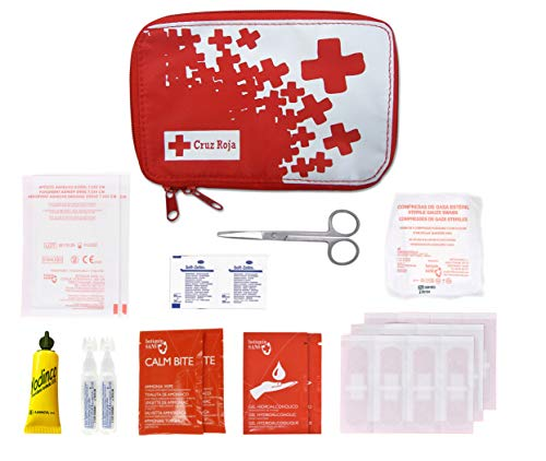 Botiquín Cruz Roja de Primeros Auxilios en Nylon de Paseo- 300 gr