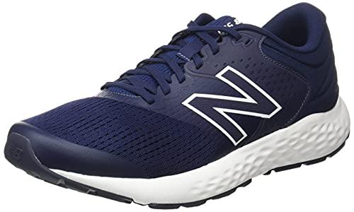New Balance Men's 520 V7 Running Shoe, Navy/White, 10.5 X-Wide