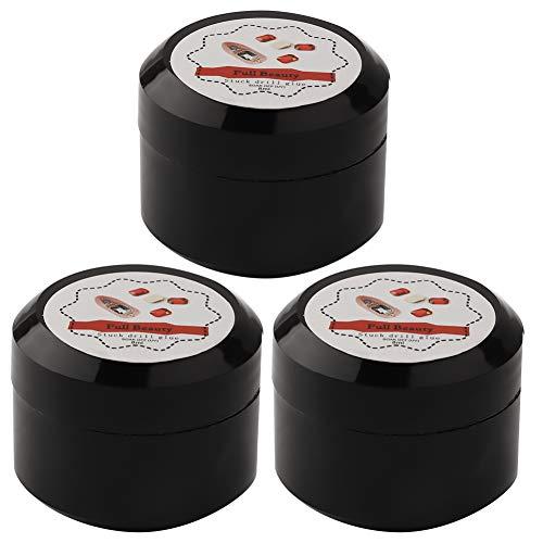 Nail Decor Adhesive, 3 Pcs Nail Decor Stuck Drill Glue Professional UV Adhesive Super Sticky Strass for Nail Art DIY and Beauty Salon