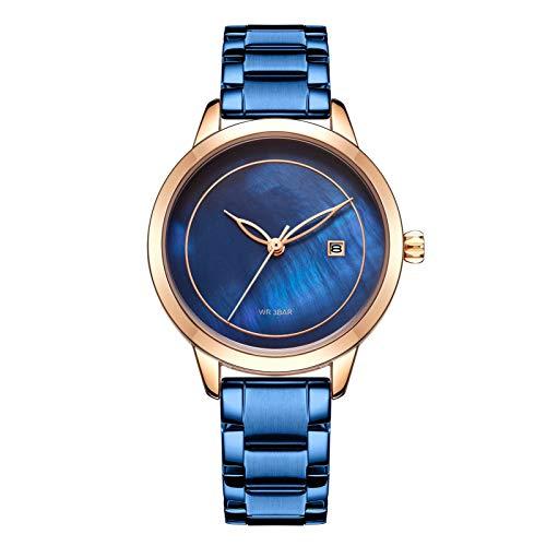 YQCH Relojes para Mujer Reloj de Lujo Cuarzo A Prueba de Agua Reloj de Pulsera para Mujer Ladies Girls Moda Reloj Regalo Girls Ladies Cuarzo Muñeca (Color : B)