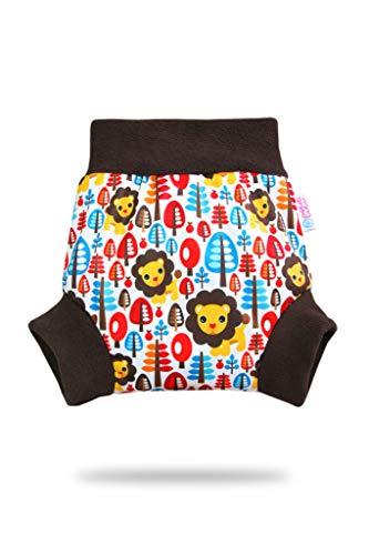 Pull Up Cover Petit Lulu | Talla XL | Con bordes de forro polar | Reutilizable y lavable | Pañales lavables | Pañal de tela | Fabricado en Europa (Jungle King)