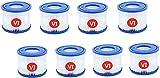 BEMAL VI Cartucho de filtro de repuesto para piscina Bestway tipo VI para Jacuzzi Lay-Z-Spa Miami Vegas Monaco Tamaño 6-58323 (8 unidades)