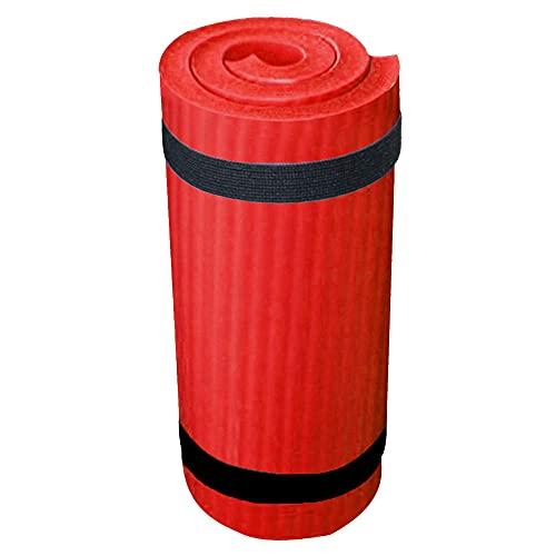 600x250x15mm antideslizante yoga alfombra extra grueso cojín rodilla impulsión cojín para el hogar yoga deportes ornamentos-rojo