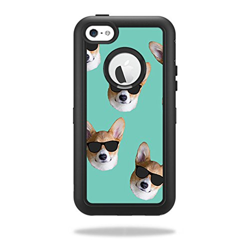 MightySkins Skin Compatible with OtterBox Defender iPhone 5C Case – Cool Corgi | Protective, Durable, and Unique Vinyl Decal wrap Cover | Easy to Apply, Remove, and Change Styles | Made in The USA
