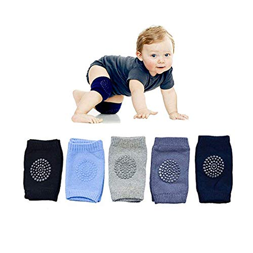 WainbowA Baby Crawling Anti Slip Knee Pads, Protect Infants & Toddlers Knees, Elbows and Legs, Unisex Baby Toddlers Kneepads, Learn to Socks Children Short Kneepads 5 Pairs