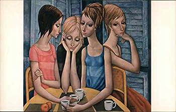 Margaret Keane - The Coffee Break Modern Original Vintage Postcard