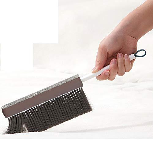 Cepillo de limpieza multiusos para cama, sofá, quitapelos, ropa de cama, cepillo adhesivo de doble cara, para ropa suave, escritorios, coches y sofás, alfombra (gris)