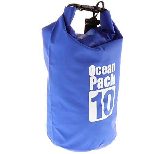 T TOOYFUL Durable Dry Bag Storage Box Drifting Sack for Kayaking Hiking Rafting 10L - Dark Blue