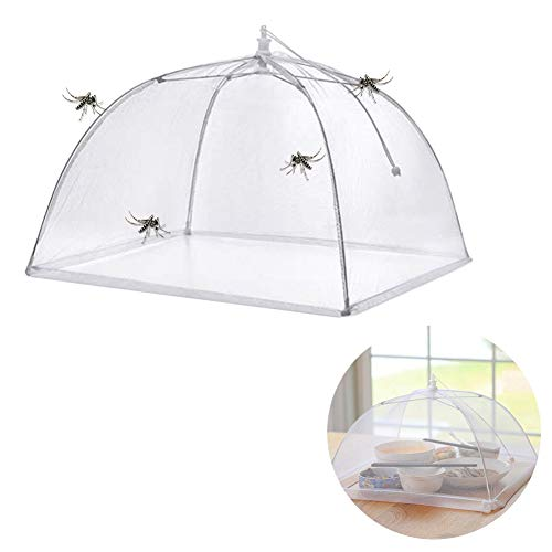 Hieefi Pop-Up Mesh Screen Food Cover Tents Collapsible Umbrella Tent for Keep Out Flies, Bugs, Mosquitos for Kitchen Outdoor Used