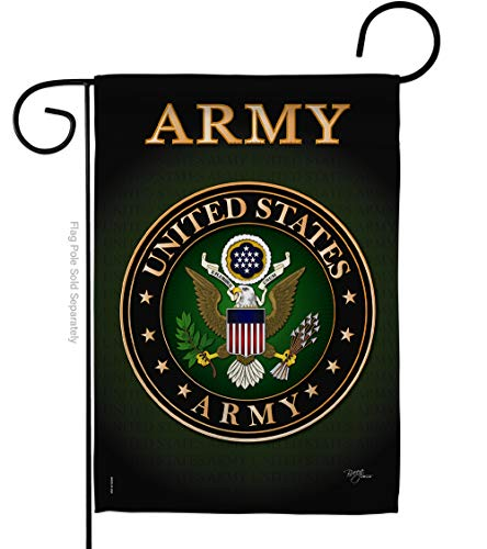 Breeze Decor US Army Garden Flag Armed Forces Rangers Official Licensed United State American Military Veteran Retire Decorative, 13'x 18.5', Thick Fabric