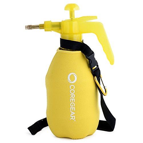 CoreGear (ULTRA COOL XL) USA Misters 1.5 Liter Personal Pump Water Mister & Sprayer With Full Neoprene Jacket (Yellow)