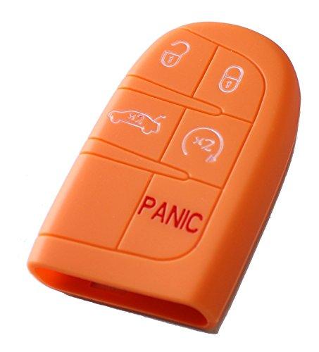Silikon Tasche für Schlüssel KFZ-Papaya
