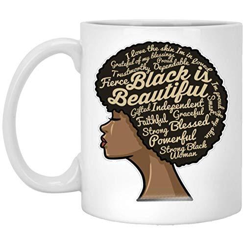 N\A Graduación Dashiki Melanin Afro Woman Mug - Birthday Virgo Queen Black Mug - Birthday September - Afro Queen PNG - Beautiful Black Queen Taza de café Negra