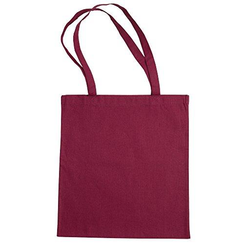 Jazz Bag Beech - Sac de courses 100% coton (Taille unique) (Rouge sang)
