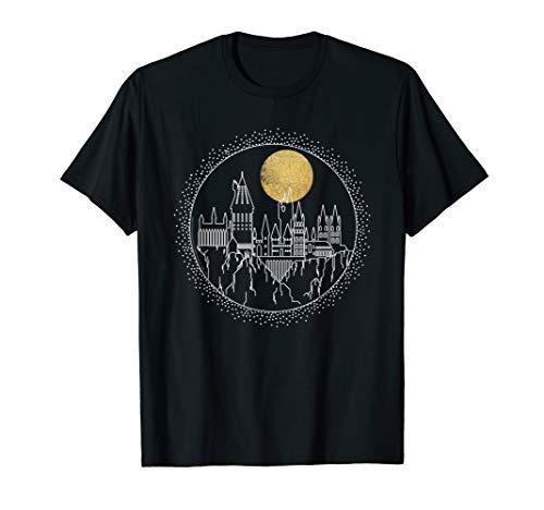 Harry Potter Hogwarts Full Moon Line Art T-Shirt