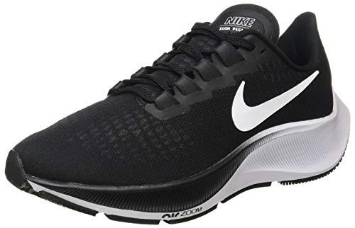 Nike Women's AIR Zoom Pegasus 37 Road Running Shoe, Black/White, 4.5 UK
