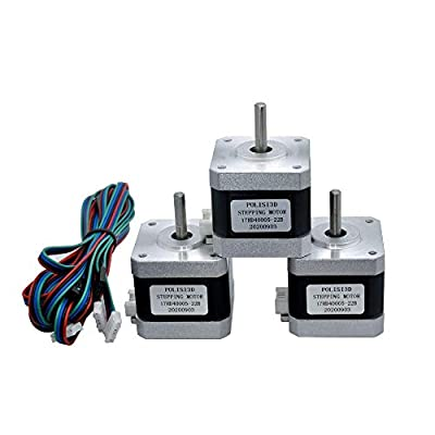 High Torque 42N.cm 3D Printer Motors Nema 17 Stepper Motor 42 Motor 1.5A 1.8 Degree 4-Lead with 1m Cable and Dupont Connector (3)