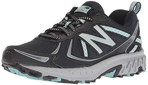 New Balance Women's 410 V5 Trail Running Shoe, Black/Thunder/Ocean air, 5 B US